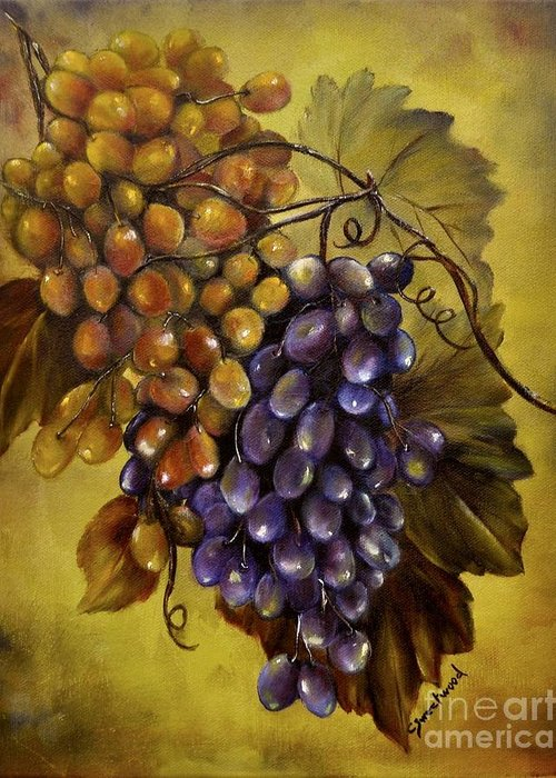 Grapes Greeting Card featuring the painting Two Choices by Carol Sweetwood