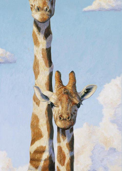 Giraffes Greeting Cards