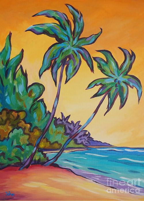Tropical Stain Glass Greeting Cards