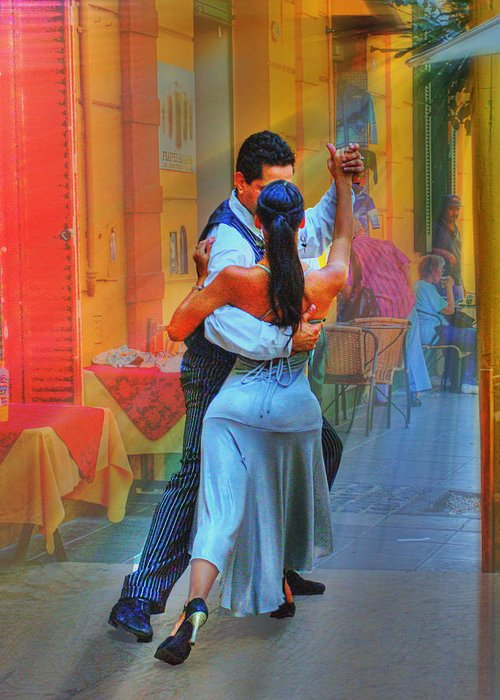 Dance Greeting Card featuring the photograph Two Tango by Francisco Colon