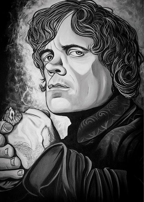 Tyrion Lannister Greeting Card featuring the painting Tyrion Lannister by Matt Brown