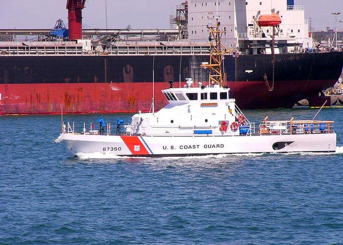 Coast Guard Greeting Card featuring the photograph U S Coast Guard by David Bearden