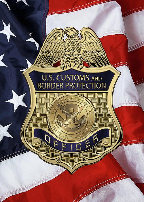 u s customs and border protection  c b p officer badge