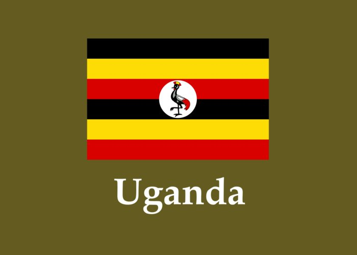 Uganda Flag And Name Greeting Card for Sale by Frederick Holiday