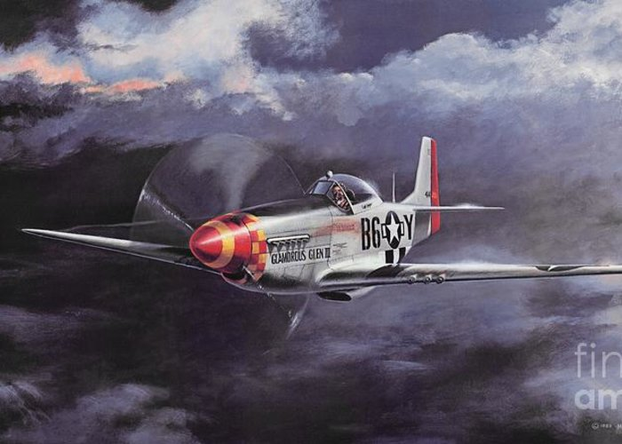Chuck Yeager Greeting Card featuring the painting Ultimate High by Michael Swanson