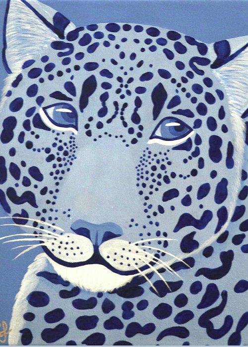 Ultramarine Jaguar Greeting Card