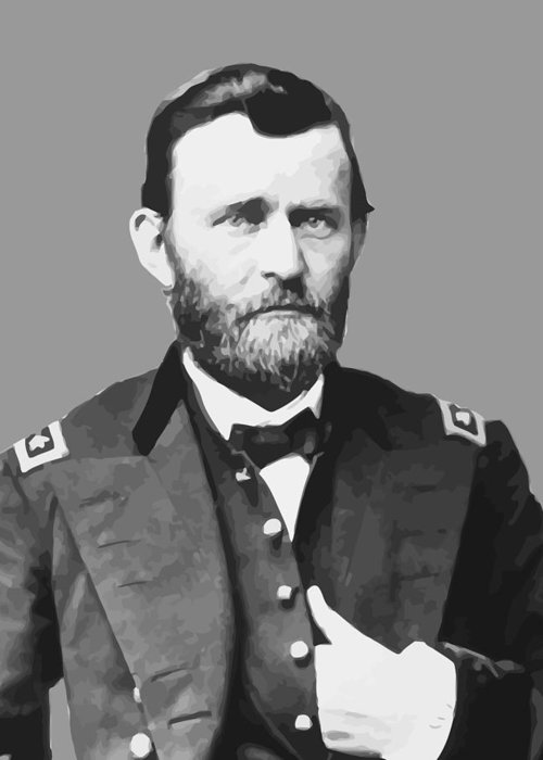 Us Grant Greeting Card featuring the painting Ulysses S Grant by War Is Hell Store