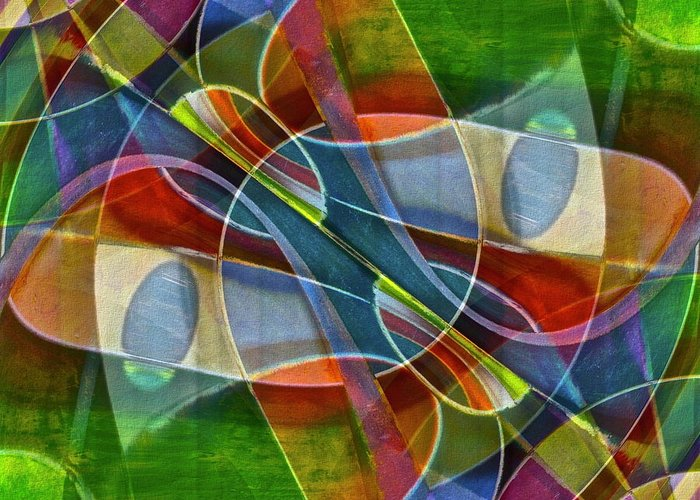 Abstract Greeting Card featuring the photograph Unchartered by Gwyn Newcombe
