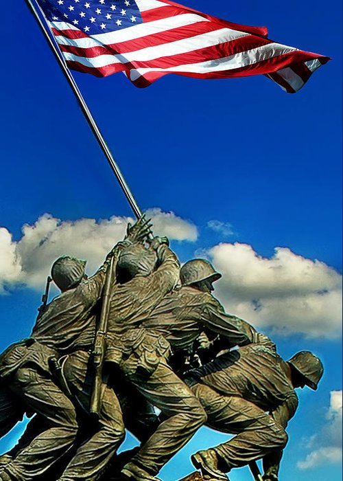 Washington Dc Greeting Card featuring the photograph Uncommon Valor by Don Lovett