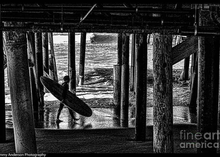 Warf Greeting Card featuring the photograph Under The Boardwalk by Tommy Anderson