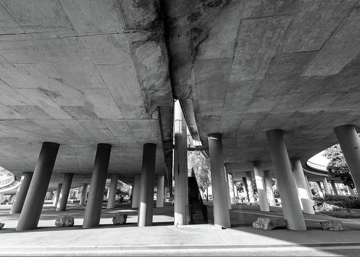 Architecture Greeting Card featuring the photograph Under The Viaduct A Urban View by Jacek Wojnarowski