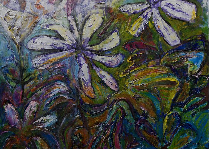 Flowers Greeting Card featuring the painting Undergrowth by Jeremy Holton