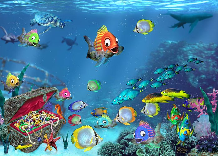 Underwater Fantasy Greeting Cards