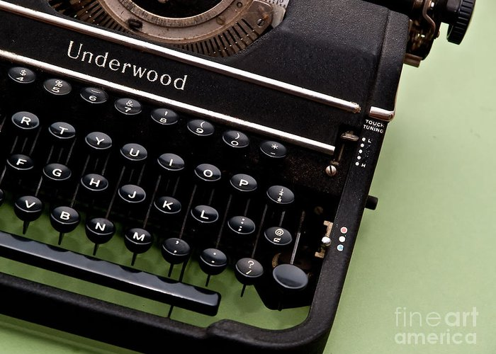 Typewriter Greeting Card featuring the photograph Underwood by Valerie Morrison