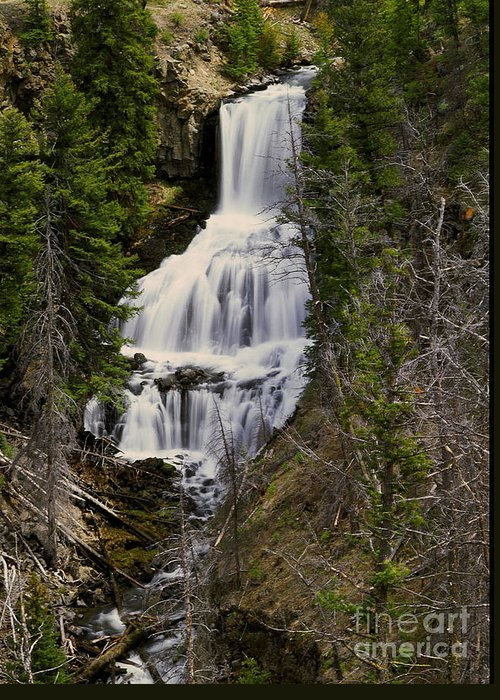 Waterfall Greeting Card featuring the photograph Undine Falls On Lava Creek by Dennis Hammer