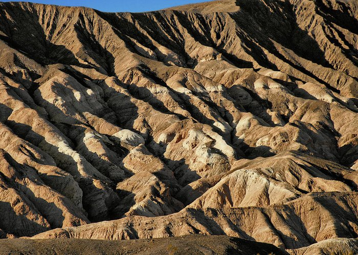 Death Valley National Park Greeting Card featuring the photograph Unearthly World - Death Valley's Badlands by Christine Till