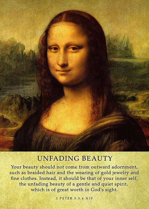 Mona Lisa Canvas Print Greeting Card featuring the photograph Unfadingbeauty by Roman Dela Rosa
