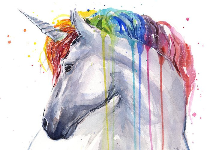 Unicorn Art Greeting Cards