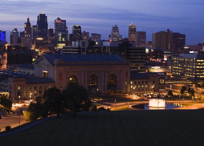 Union Station Greeting Card featuring the photograph Union Station Kansas City by Chad Davis