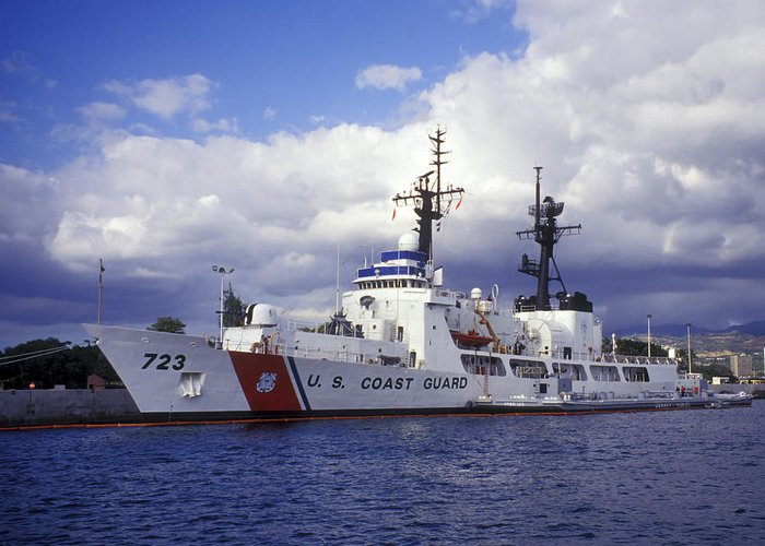 Coast Guard Greeting Card featuring the photograph United States Coast Guard Cutter Rush by Michael Wood
