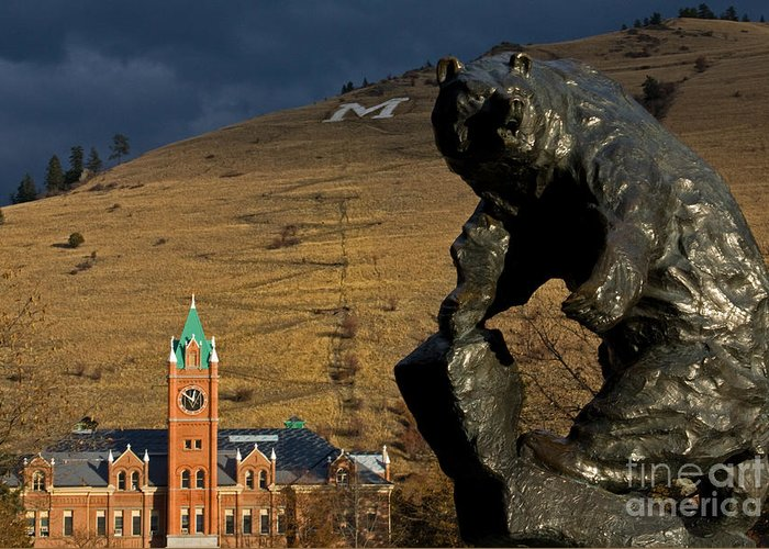 University Of Montana Greeting Card featuring the photograph University Of Montana Icons by Katie LaSalle-Lowery