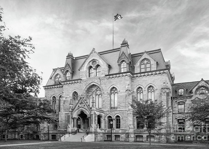 Aau Greeting Card featuring the photograph University Of Pennsylvania College Hall by University Icons