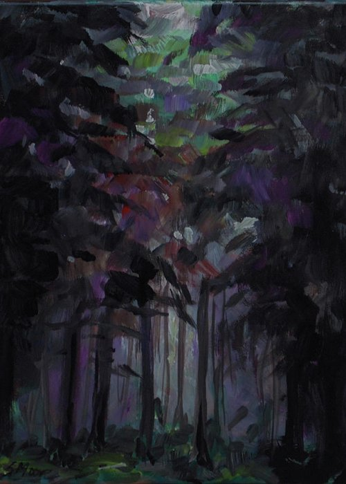 Forest Greeting Card featuring the painting Unless by Susan Moore