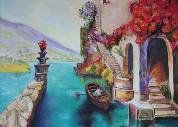 Colors Greeting Card featuring the painting Untiteled by Taly Bar