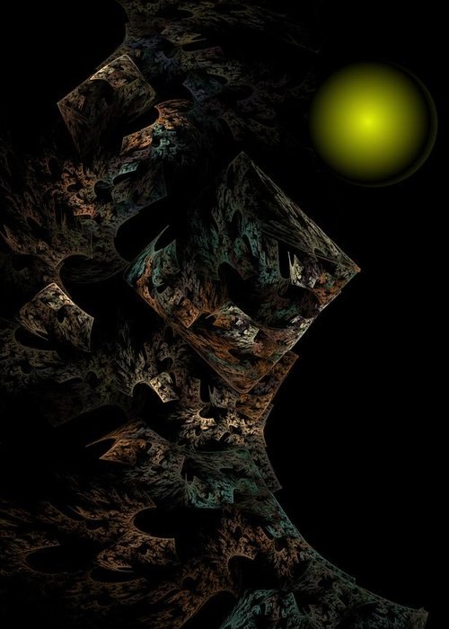 Fantasy Greeting Card featuring the digital art Untitled 12-18-09 by David Lane