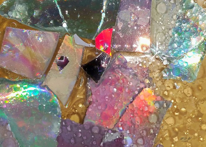 Plates Greeting Card featuring the photograph Untitled Abstract Prism Plates II by Rob Mandell