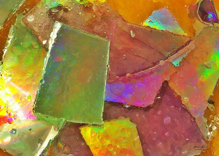 Plates Greeting Card featuring the photograph Untitled Abstract Prism Plates IIi by Rob Mandell