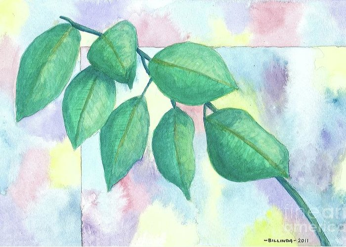Watercolor Greeting Card featuring the painting Untitled by Billinda Brandli DeVillez