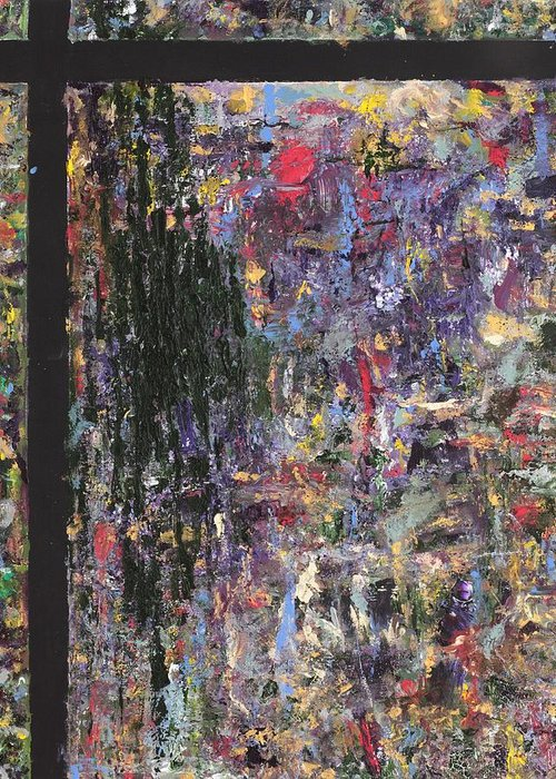 Abstract Painting Greeting Card featuring the painting Untitled by Jaime Becker