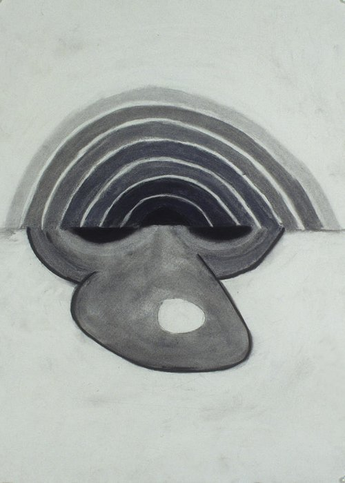 Charcoal Greeting Card featuring the drawing Untitled by Jamie Wooten