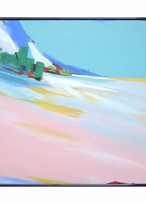 Abstracted Landscape Greeting Card featuring the painting Untitled Landscape by Marston A Jaquis
