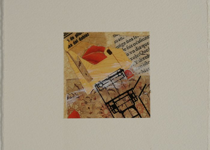 Collage Greeting Card featuring the mixed media Untitled by Lisa Cullen