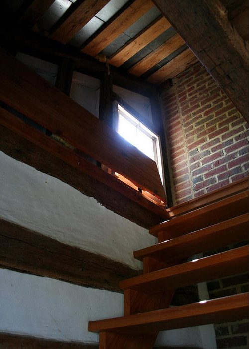 Wooden Steps Greeting Card featuring the photograph Up To The Attic by Rebecca Smith