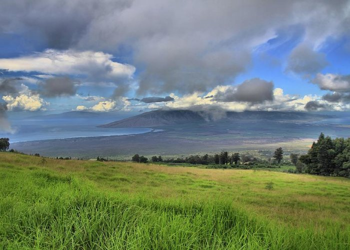 Maui Greeting Card featuring the photograph Upcountry Maui by DJ Florek