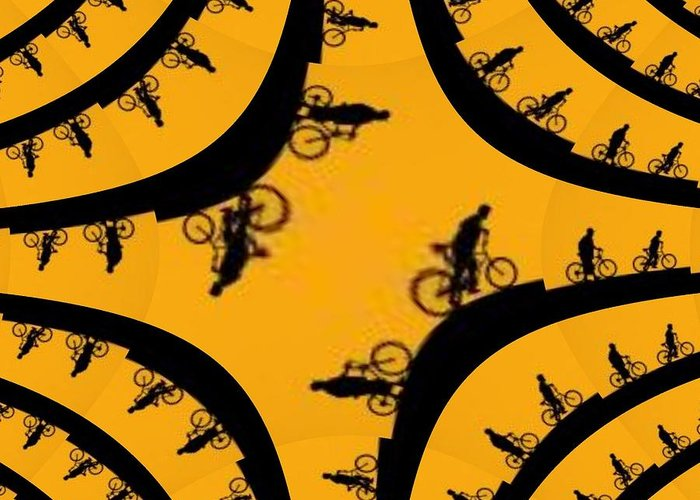 Bicycle Greeting Card featuring the photograph Uphill Downhill by Tim Allen