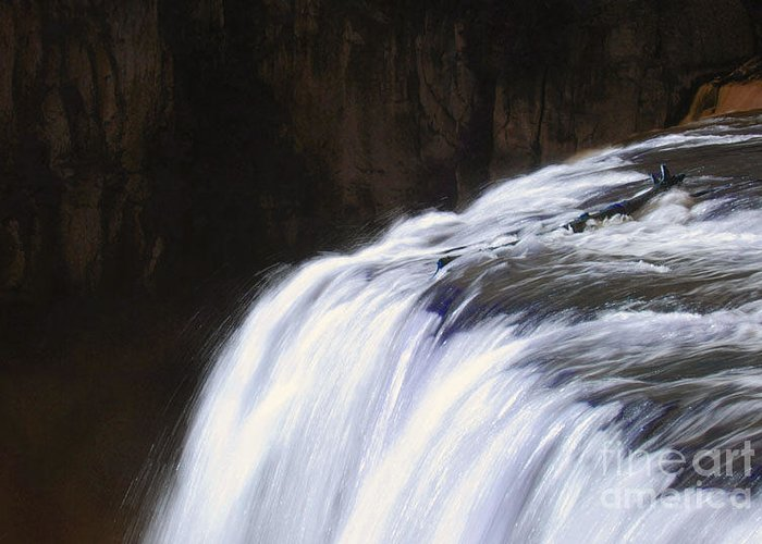 Falls Greeting Card featuring the photograph Upper Mesa Falls by Dennis Hammer
