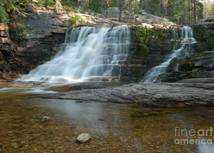 Waterfall Greeting Card featuring the photograph Upper Provo River Falls by Dennis Hammer