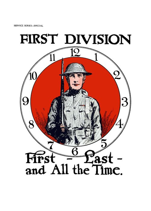 1st Division Greeting Cards