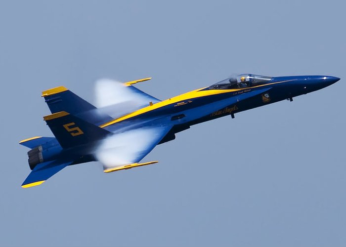Us Navy Greeting Card featuring the photograph Us Navy Blue Angels High Speed Pass by Dustin K Ryan