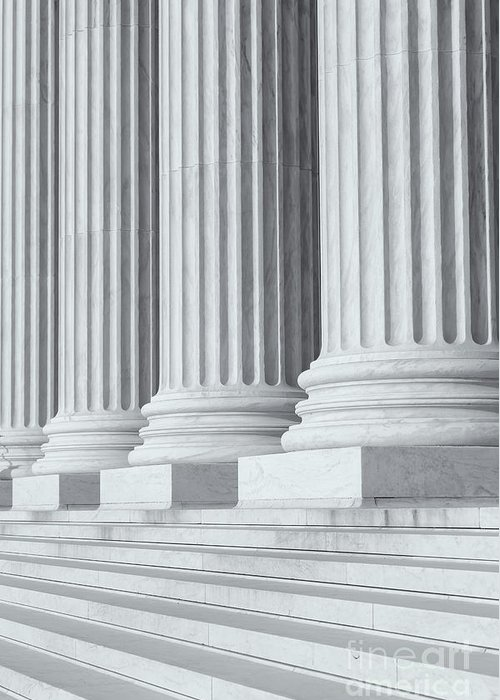 Clarence Holmes Greeting Card featuring the photograph Us Supreme Court Building Iv by Clarence Holmes