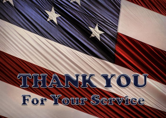 Thank You For Your Service Greeting Cards Fine Art America
