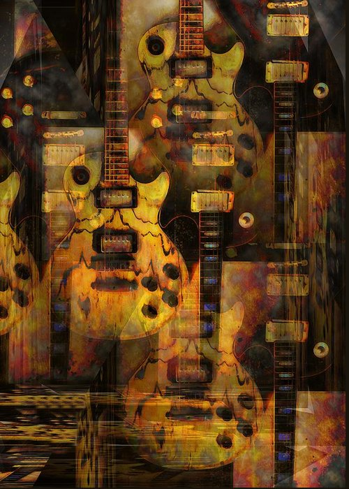 Guitar Greeting Card featuring the photograph Use You Illusion by Bill Cannon