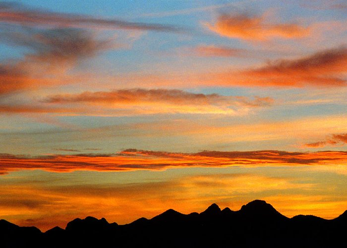 Arizona Sunset Greeting Card featuring the photograph Usery Sunset II by Randy Oberg
