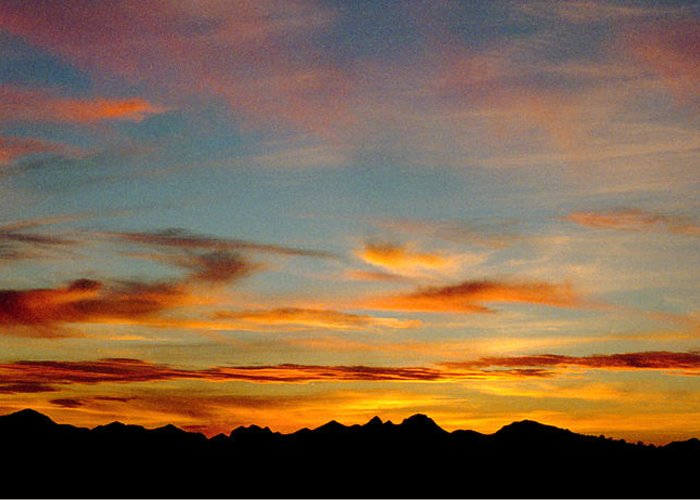 Arizona Sunset Greeting Card featuring the photograph Usery Sunset by Randy Oberg