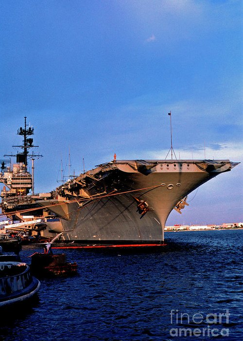 Us Naval Station Mayport Greeting Card featuring the photograph Uss Forrestal Cv-59 by Thomas R Fletcher