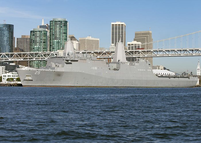Navy Greeting Card featuring the photograph Uss Somerset by Rick Pisio